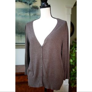 Brown 1/4 sleeve Mossimo cardigan